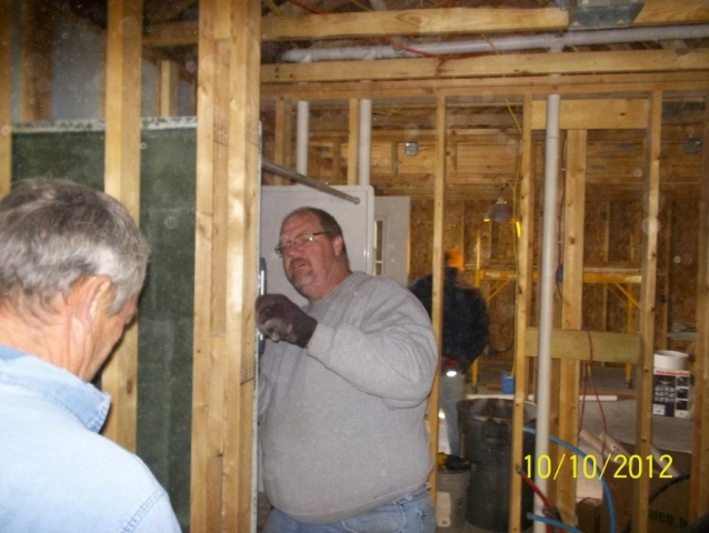 Dan Sloan & co. of Sloan's Plumbing donate many hours to plumb Sean's home