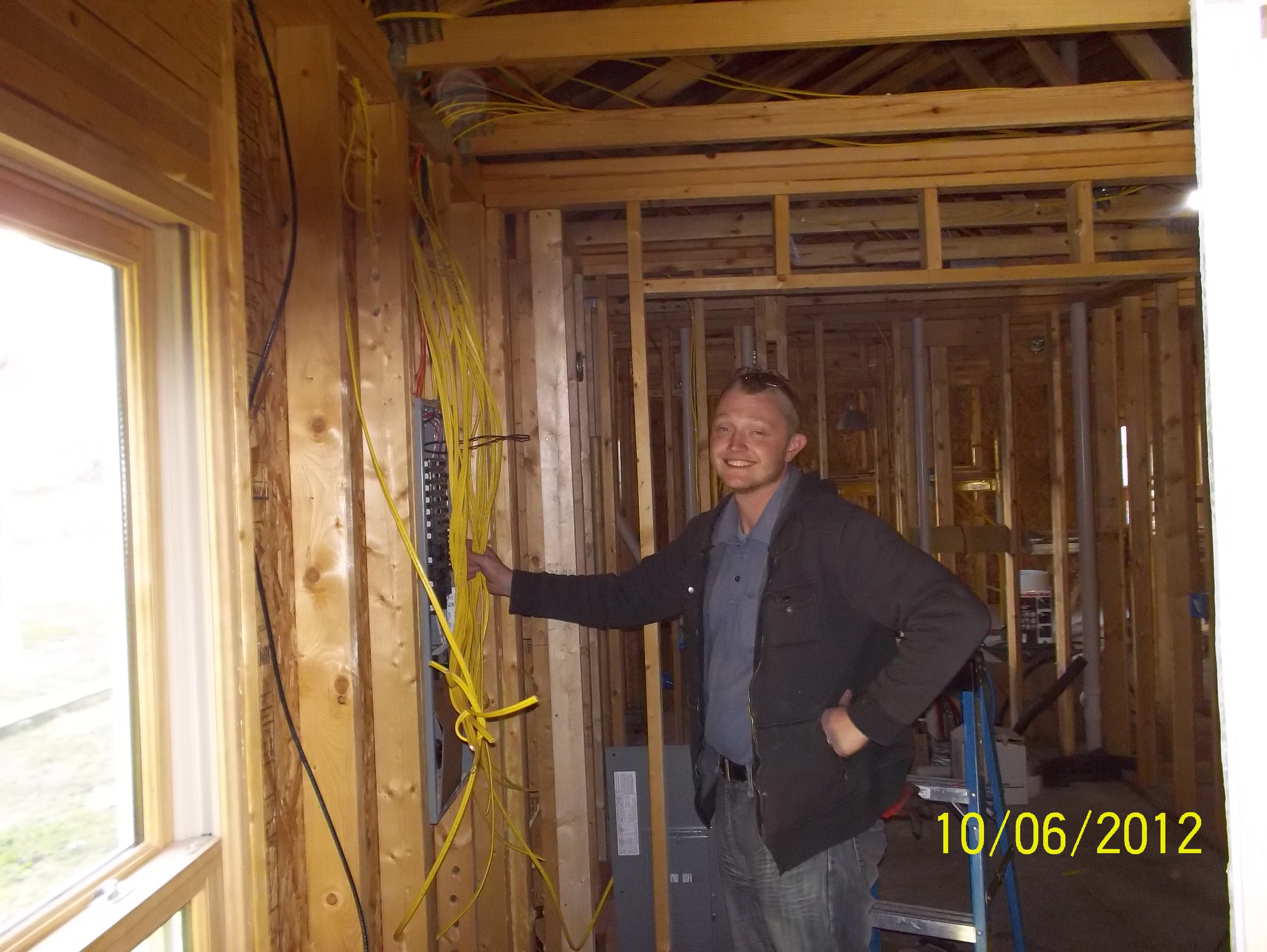 Rex Modglin & union brothers of IBEW Local 538 donate their time and expertise to wire Sean's home