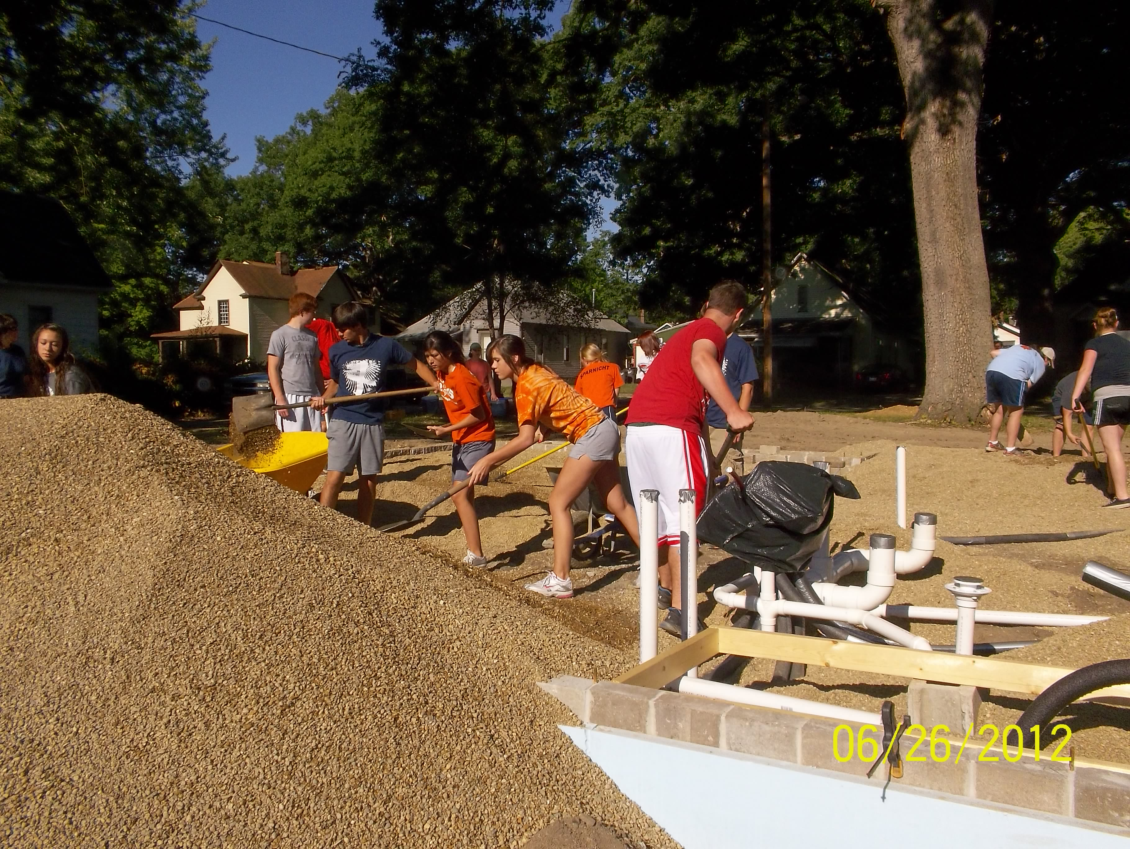 The Life Church One-eighty group spread pea gravel